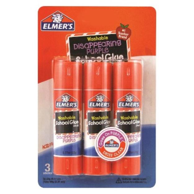 Elmers Products Inc Elmers 3ct Glue Sticks - Purple