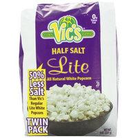 Vic's Popcorn Twin Packs Lite White Half Salt, 9 Ounce