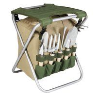 Picnic Time 5-pc Garden Tool Set with Tote & Folding Seat