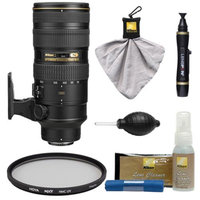 Nikon 70-200mm f/2.8G VR II AF-S ED-IF Zoom-Nikkor Lens with Hoya UV Filter + Cleaning Kit for D3200, D3300, D5200, D5300, D7000, D7100, D610, D800, D810, D4s DSLR Cameras