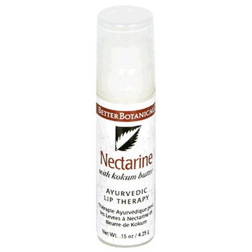 Better Botanicals Ayurvedic Lip Therapy, with Kokum Butter, Nectarine, .15 oz Bottles, (Pack of 6)