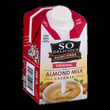 So Delicious Dairy Free Almond Milk Creamer Original
