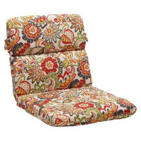 Pillow Perfect Outdoor Chair Cushion - Green/Off-White/Red Floral