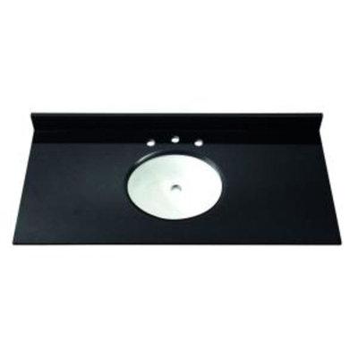 Avanity 49 in. Granite Stone Vanity Top in Black without Basin