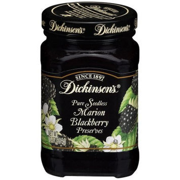 Dickinsons Preserves, Pure Seedless, Marion Blackberry, 10 OZ (Pack of 6)