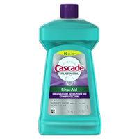 Cascade Platinum Rinse Aid Dishwasher Rinse Agent, Regular, 8.45 fl oz