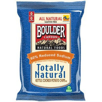 Boulder Canyon 60% Less Sodium Totally Natural Potato Chips, 5-Ounce (Pack of 12)