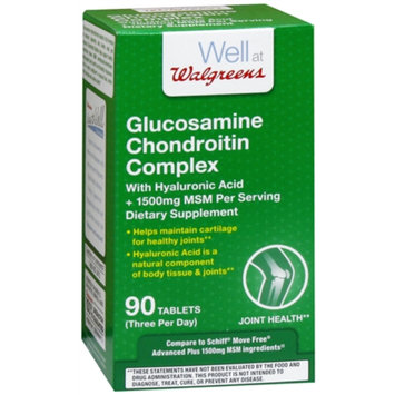 Walgreens Glucosamine Chondroitin Complex With Hyaluronic Acid Tablets