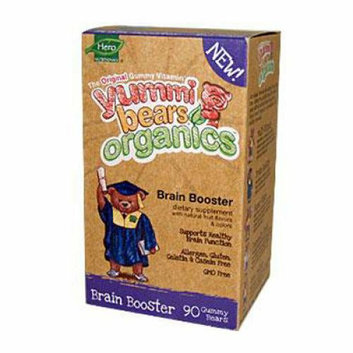 Hero Nutritionals Hero Nutritional Products Yummi Bears Organics Brain Booster 90 Count