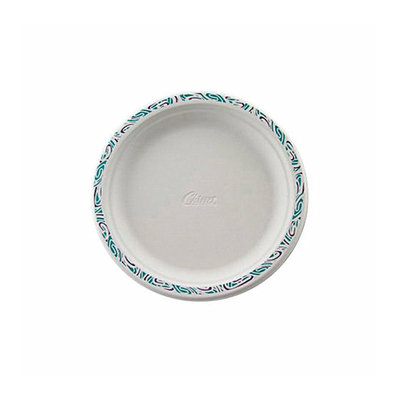 CHINET Festival White Molded Fiber Round Plates