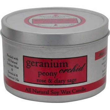 Aroma Paws Travel Tin Candle, 8-Ounce, Geranium Orchid Sage