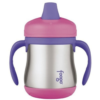 Thermos Foogo Leak-Proof SS 7 Ounce Sippy Cup with Handles, Pink, 6 Months (Discontinued by Manufacturer)
