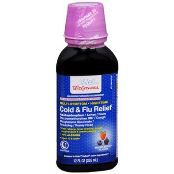 Walgreens Multi-Symptom Nighttime Cold & Flu Relief