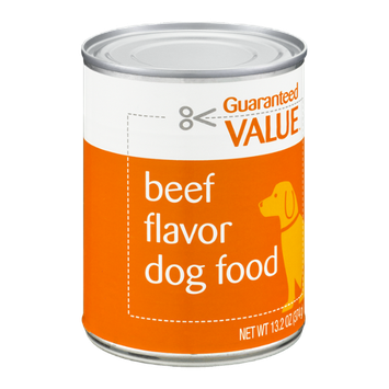 Guaranteed Value Dog Food Beef Flavor