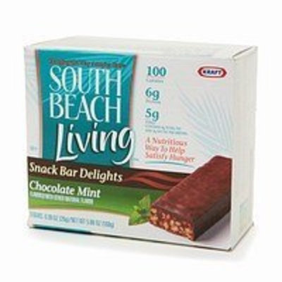 South Beach Living Snack Bar Delights Chocolate Mint 6-0.98 Oz Bars