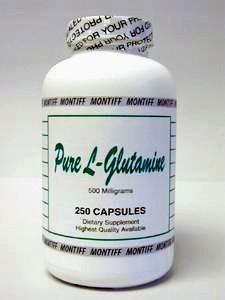 Pure L-Glutamine 500 mg 250 caps by Montiff