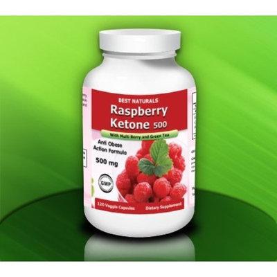Best Naturals Raspberry Ketone with Green Tea, 500mg, 240 Veggie Capsule