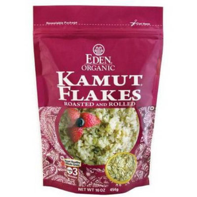 Eden Organic EDEN Kamut Flakes - Toasted & Rolled, Organic, 100% Whole Grain, 16 Ounce (Pack of 6)