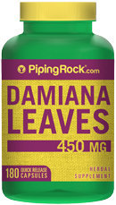 Piping Rock Damiana Leaves 450mg 180 Capsules
