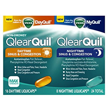 QlearQuil™ Daytime & Nighttime Sinus & Congestion Relief LiquiCaps™