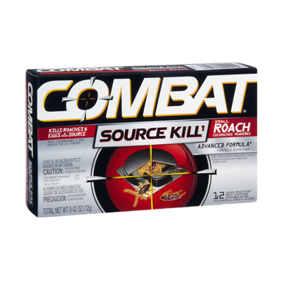 Combat Source Kill Small Roach Advanced Formula Bait Stations - 12 CT