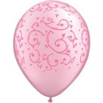 The Jug Pearl PINK Filigree Swirl Pattern (6) PRINCESS Party LATEX Helium Balloons