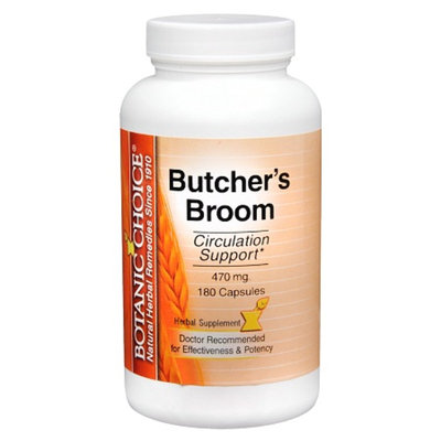 Botanic Choice Butcher's Broom 470 mg Herbal Supplement Capsules