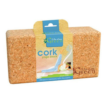 Wai Lana Green Cork Yoga Block