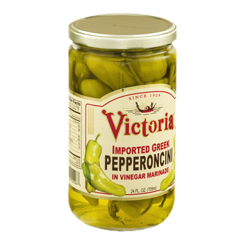 Victoria Imported Greek Pepperoncini In Vinegar Marinade
