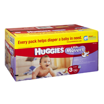 Huggies Little Movers Size 3 Disney Diapers - 76 CT