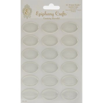 Epiphany Crafts Clear Bubble Caps Oval 25, 18/Pkg