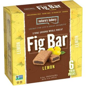 Nature's Bakery Lemon Fig Bars, 12 oz, (Pack of 6)