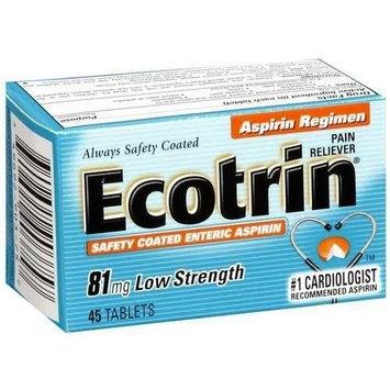 Ecotrin Low Strength Aspirin 81 mg 45-Count
