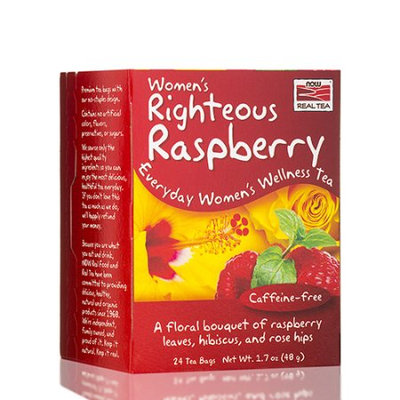 NOW Foods Real Tea Women's Righteous Raspberry 24 Tea Bags