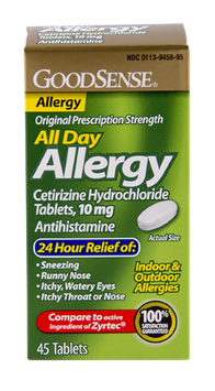 GoodSense All Day Allergy Relief 45 Count