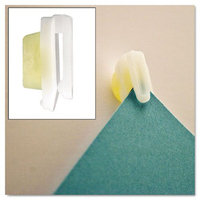 Advantus 01220 StikkiCLIPS Plastic White 20/Pack