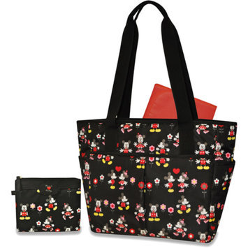 Disney Minnie Mouse/Mickey Mouse 3-Piece Diaper Bag Set