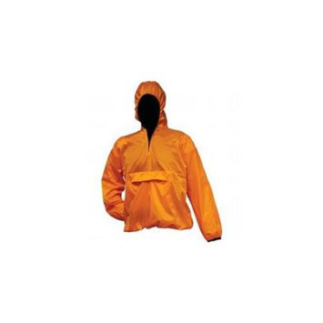 All Weather All-weather Pull-over Orange Rain Jacket- M