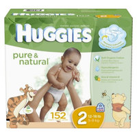 Huggies Pure & Natural HUGGIES Pure & Natural Diapers Mega Colossal Pack - Size 2 (152 count)