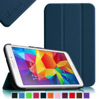 Fintie Smart Shell Case Ultra Slim Lightweight Stand Cover for Samsung Galaxy Tab 4 7.0 Tablet, Navy