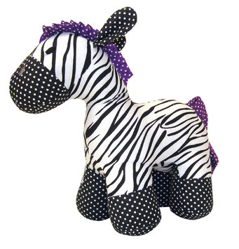 Trend Lab Stuffed Toy -Grape Expectations Zebra