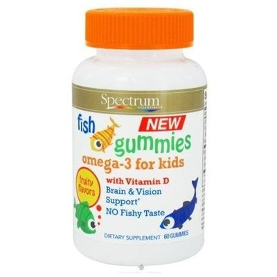 Spectrum Essential Omega 3 with Vitamin D Gummies for Kids, 60 CHEW