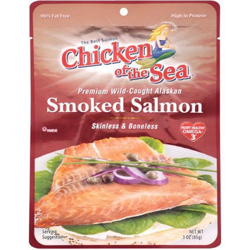 Chicken of the Sea Premium Smoked Alaskan Pacific Salmon Pouches, 3 oz, (Pack of 4)
