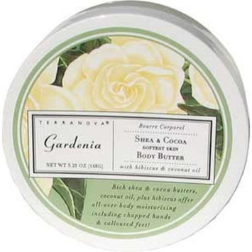 Terra Nova Terranova Gardenia Shea and Cocoa Body Butter, 0.56 Ounce