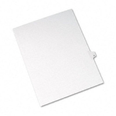 Avery Allstate-Style Legal Side Tab Divider, Title: 42, Letter, White, 25/Pack