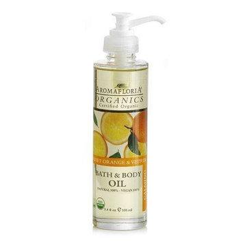 Aromafloria Organics Sweet Orange & Vetiver - Calming 3.4 oz Bath & Body Oil