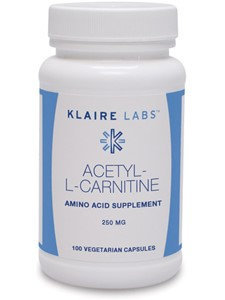 Klaire Labs, Acetyl L-Carnitine 100 Vegetarian Capsules
