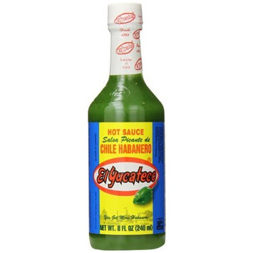 El Yucateco Green Hot Sauce Bottle, Chile Habanero, 8 Ounce