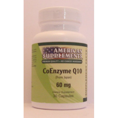 Coenzyme Q10 60 MG No Chinese Ingredients American Supplements 30 Caps