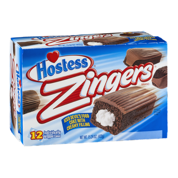 Hostess Zingers Iced Devil's Food Cake with Creamy Filling - 12 CT